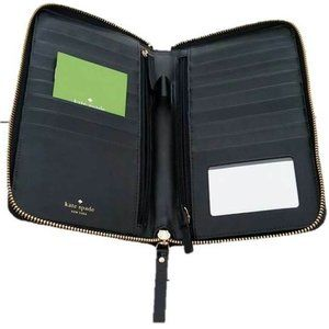 KATE SPADE Parliament SQUARE Exotic Black Wallet
